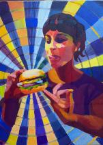 Картина «Поп-арт портрет» — холст, акрил, живопись