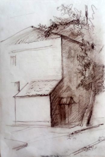 Картина «Харьков-3» — бумага, соус, графика