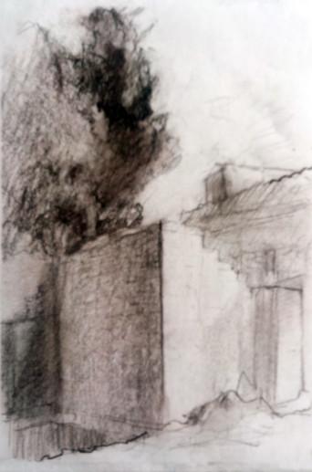 Картина «Харьков-4» — бумага, соус, графика