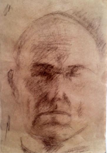 Картина «Портрет» — бумага, соус, графика