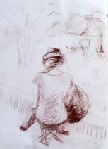 Картина «Танюшка» — бумага, соус, графика