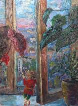 Картина «Домовой» — холст, масло, живопись