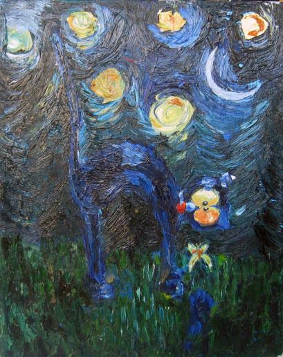 Картина «Кот» — холст, масло, живопись