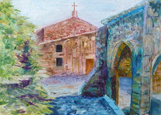 Картина «Церковь» — холст, масло, живопись
