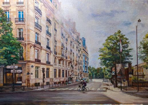 Картина «Городской пейзаж» — холст, масло, живопись