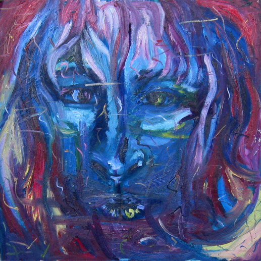 Картина «Лицо» — холст, масло, живопись