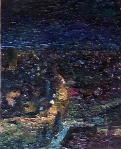 Картина «Ночь. Файзабад. 1984» — холст, масло, живопись