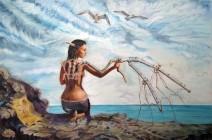 Картина «Полет» — холст, масло, живопись