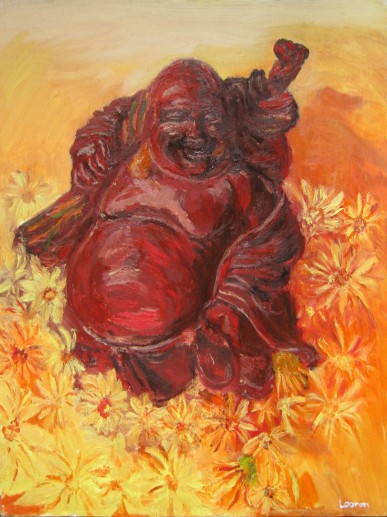 Картина «Хотэй» — холст, масло, живопись