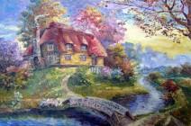 Картина «Дом» — холст, масло, живопись
