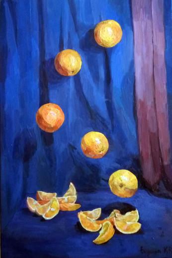 Картина «Апельсины» — холст, масло, живопись