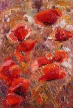 Картина «Маки» — холст, масло, живопись