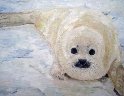Картина «Котик» — холст, масло, живопись