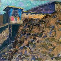 Картина «Склон» — холст, масло, живопись