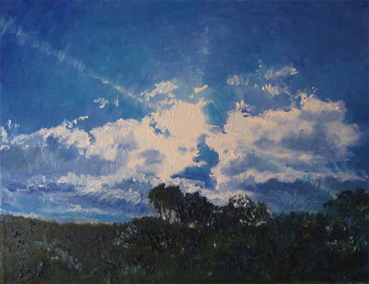 Картина «Небо» — холст, масло, живопись