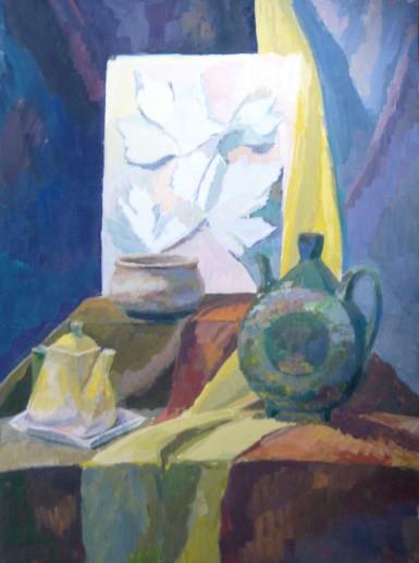 Картина «Натюрморт» — картон, гуашь, живопись