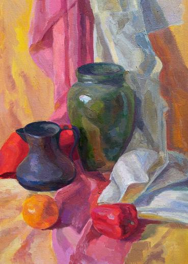 Картина «Натюрморт» — холст, масло, живопись