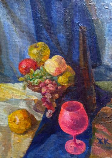 Картина «Учебный натюрморт» — холст, масло, живопись