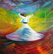 Картина «Танец суфия» — холст, масло, живопись