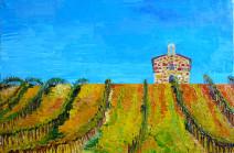Картина «Виноградники Бургундии» — холст, масло, живопись