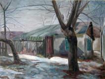 Картина «Мазанка» — холст, масло, живопись