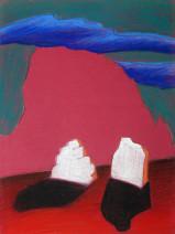 Картина «Фигуры» — картон, пастель, живопись