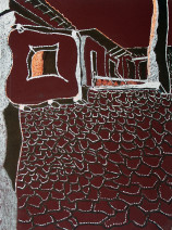 Картина «Улица» — картон, акрил, живопись